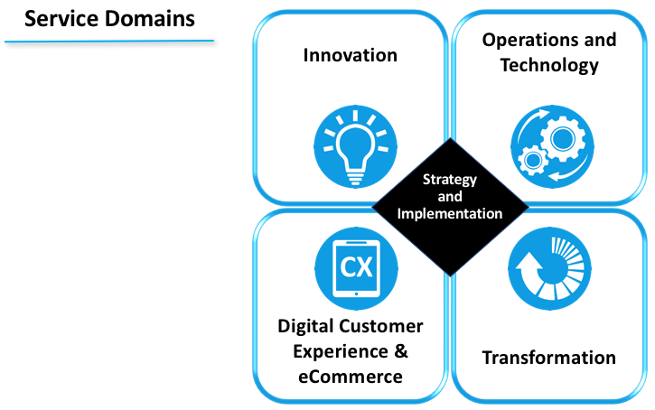 Digital Customer Experience And ECommerce Transformation Implementation Activities Across All Of These Domains Are Inextricably Linked To Our